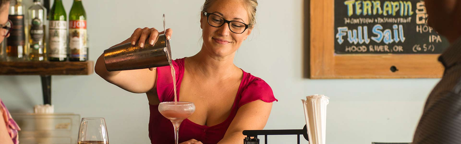 Knowledgeable Bartenders and Specialty Cocktails at The Pine Restaurant and Bar in Athens